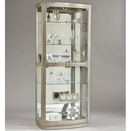 Pulaski Furniture Curios Platinum Curio Cabinet