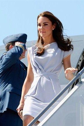 Elegant day dress on Kate Middleton.