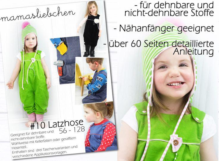 Nähanleitungen Kind - EBook E-Book Latzhose Kinder Hose Schnittmuster - ein Designerstück von mamasliebchen-naeht bei DaWanda