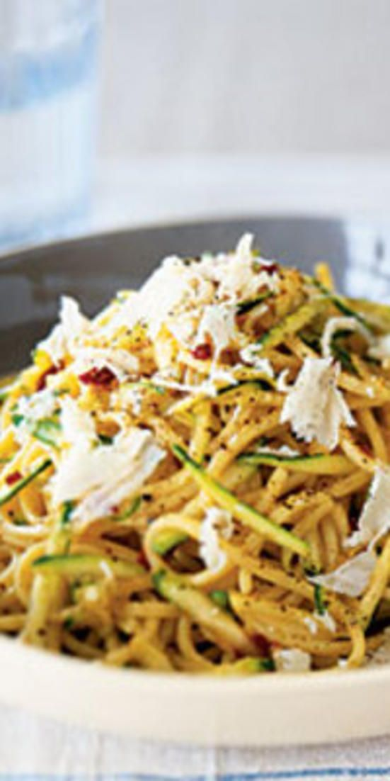 Zesty Zucchini Spaghetti  - Stick to low-purine fare, like that in the following recipes, to have a tasty meal without triggering a gout attack or making a flare-up worse.