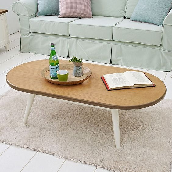 Meja Tamu Oval Maple Story (Coffee Table) Find out more at www.livien.co.id #homedecor #furniture #koreanstylefurniture #livienfurniture #table #coffee #coffeetable #livingroom #homefurnishing #interiorinspiration