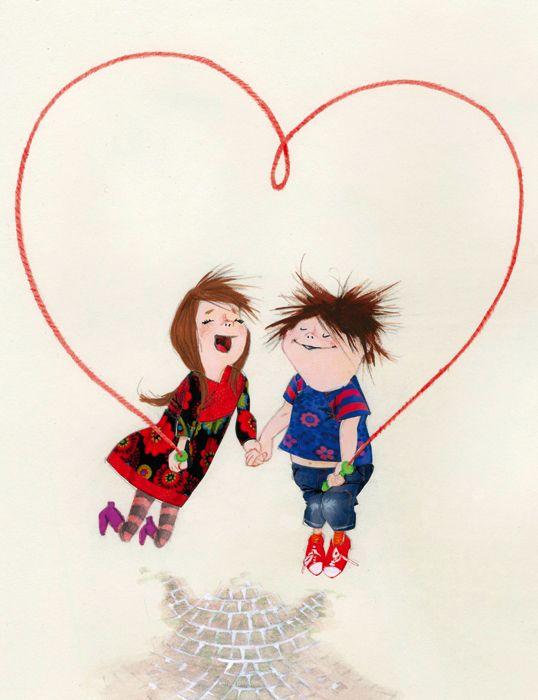 illustr.quenalbertini: Valentine's Day 2014, More children's illustrations on Behance