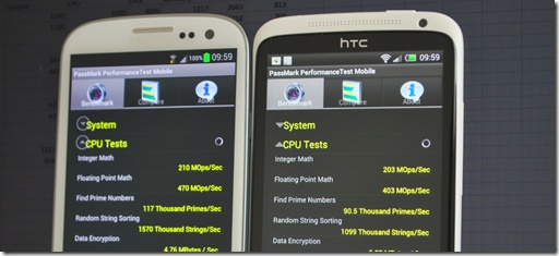 Benchmark, partea a doua: Galaxy S III vs One X
