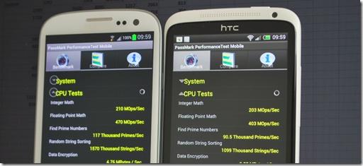 Benchmark, partea a doua: Galaxy S III vs One X