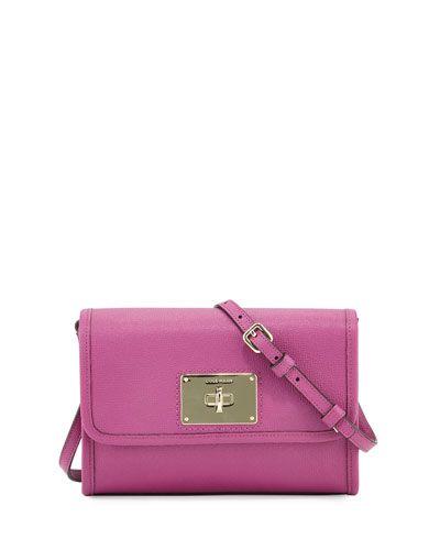 V30F9 Cole Haan Daphne Saffiano Leather Crossbody Bag, Azalea