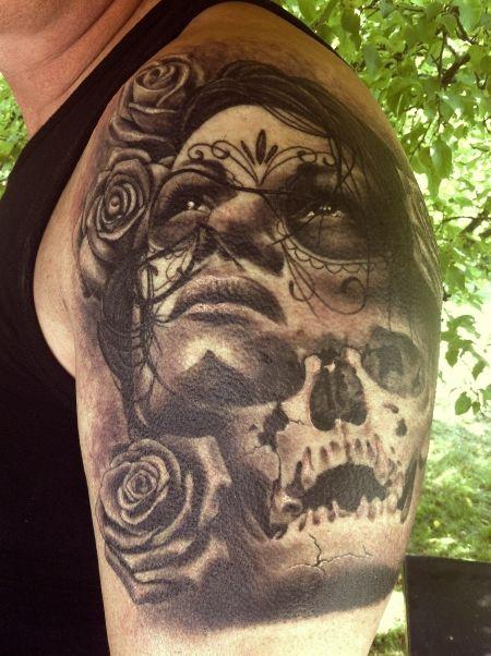 Chicano Calaveras Tattoos   Lugares para visitar   Pinterest ...