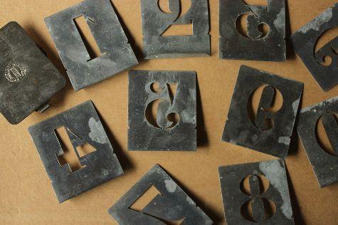 Metal stencil numerals