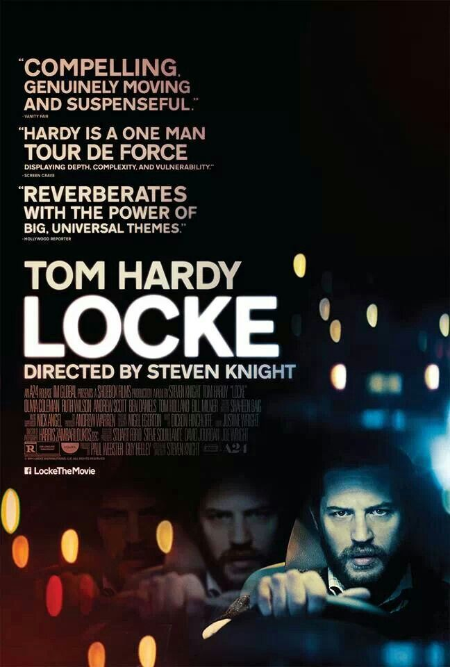 Locke - Although sometimes melodramatic, the film remains an insightful drama, with an engaging performance by Tom Hardy and an incredible technical achievement. (7.5/10)