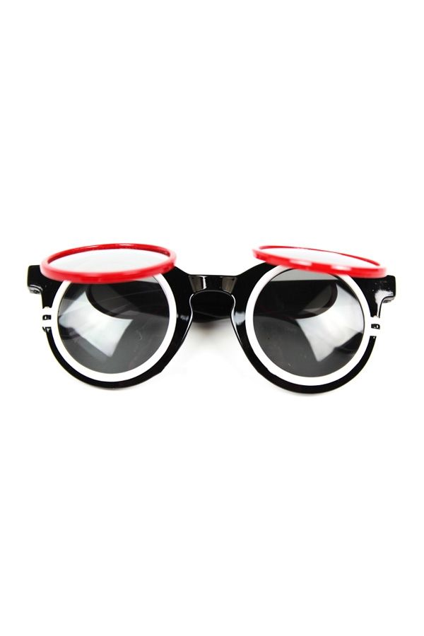 Three Layers Flip Sunglasses - OASAP.com