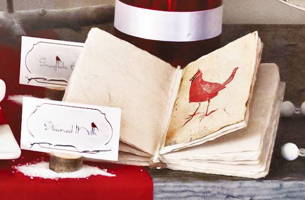 Cardinal Red & Birch Bark Holiday