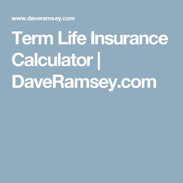 Term Life Insurance Calculator | DaveRamsey.com