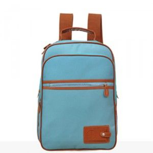 $101.20 Cheap MCM Vintage Signature Zipper Backpack Water Blue