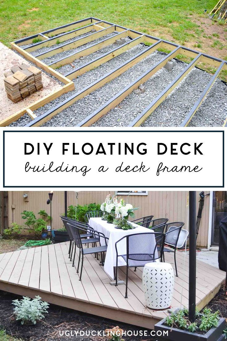 Full Series How To Build A Diy Floating Deck Aka Freestanding Or