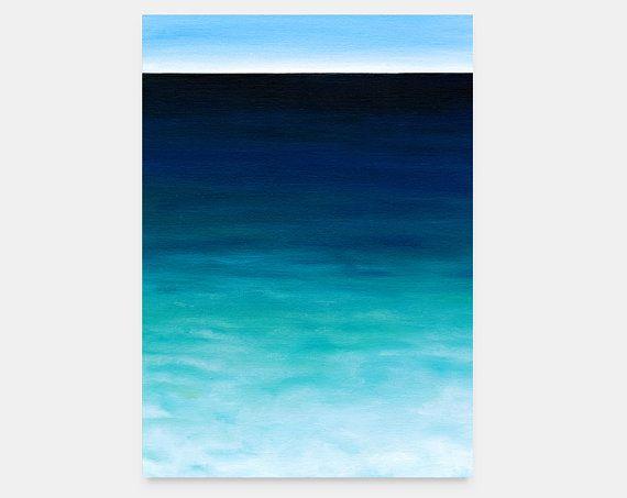 Seascape oil art original painting on canvas by SilviaVeri on Etsy