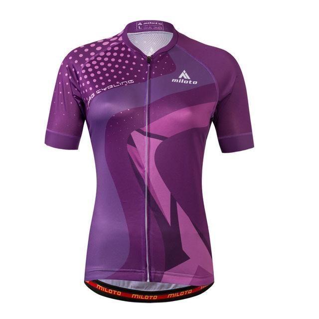 Miloto Women Cycling Jersey Tops Short Sleeve Summer Bicycle Cycling  Clothing Mtb Bike 1b84bd62d