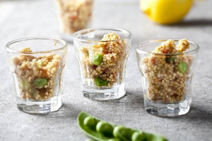Bicchierini di migliotto estivo #Star #ricette #bicchierini #migliotto #aperitivo #spuntino #antipasto #food #recipes