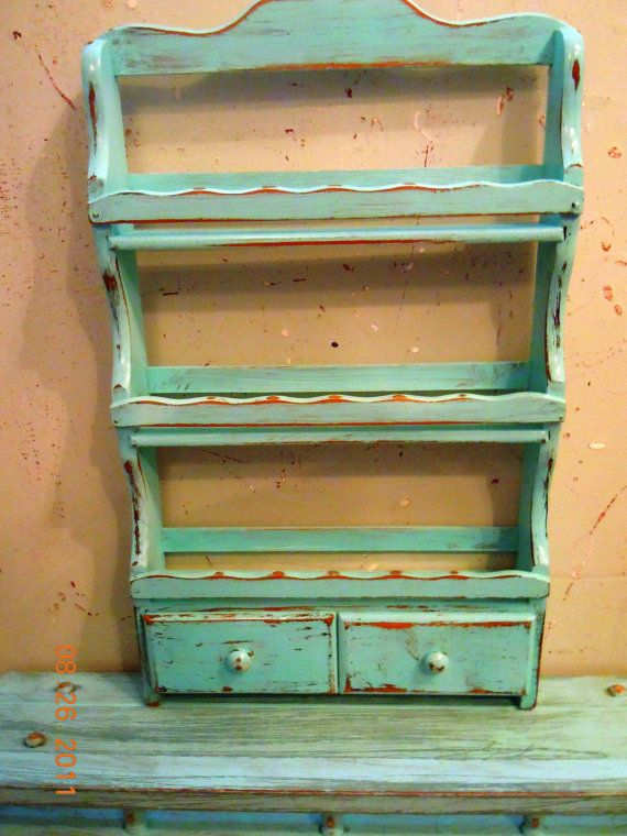 Vintage+UPcycled+Wood+Spice+Rack+by+VintageChichibean+on+Etsy