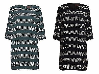 NEW Great Plains Breton Spot Stripe Tunic Shift Dress Black Green XS to XL