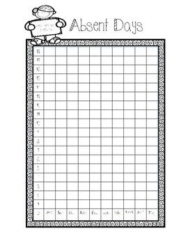 Student Portfolio and Student-Led Conference Packet- Students can track their attendance with this packet. Great for data binders.