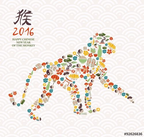 "Download the royalty-free vector ""2016 chinese new year monkey china icon ape"" designed by cienpiesnf at the lowest price on Fotolia.com. Browse our cheap image bank online to find the perfect stock vector for your marketing projects!"