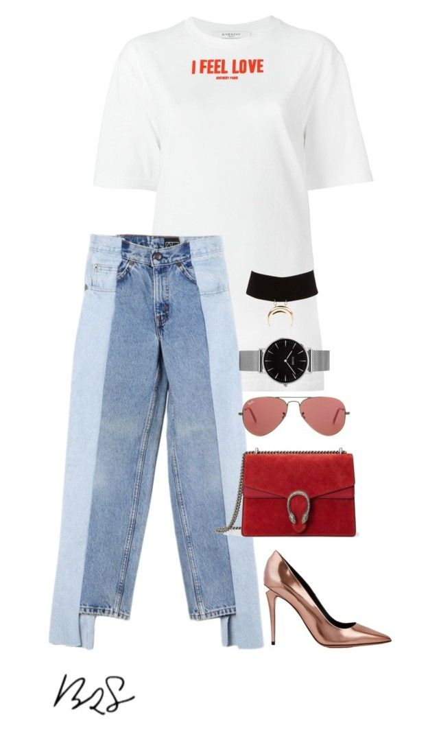 """""""#906"""" by blendingtwostyles ❤ liked on Polyvore featuring Givenchy, Alxvndra, Gucci, Alexander Wang, Topshop, Ray-Ban and Charlotte Russe"""