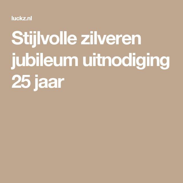 Stijlvolle zilveren jubileum uitnodiging 25 jaar