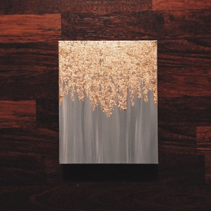 as seen in hgtv magazine gold leaf painting multiple sizes