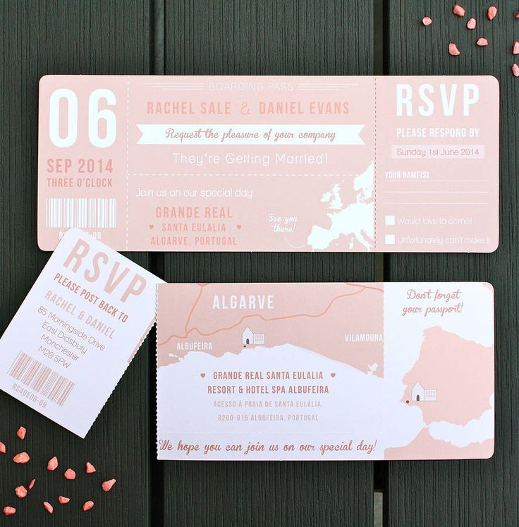 all ireland wedding invitations%0A Boarding Pass Wedding Invitation Bundle