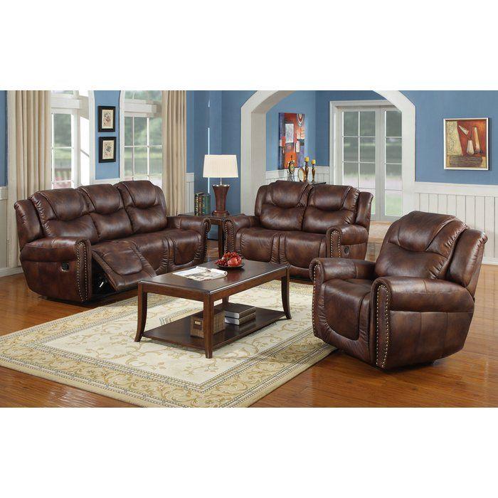 Borger 3 Piece Reclining Living Room Set Living Room Sets 3 Piece Living Room Set Living Room Leather #tan #leather #living #room #sets