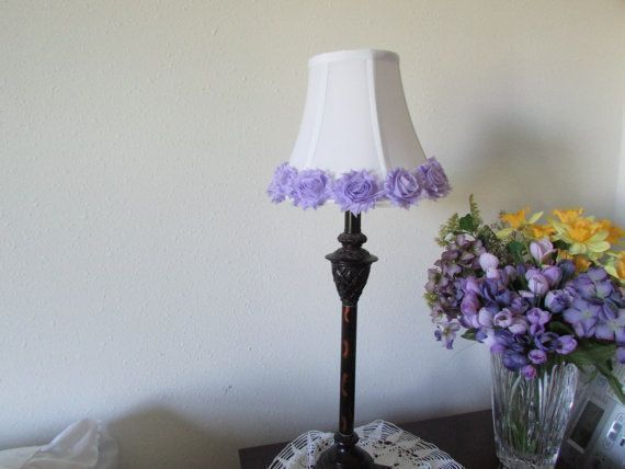 Lavender Rose Lamp Shade Shabby Chic Lamp Shade By Modaragehome Vintagelampshadevictorian Rusticdec With Images Rose Lamp Shade Shabby Chic Lamp Shades Shabby Chic Lamps
