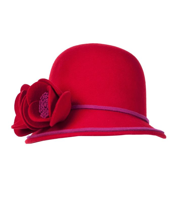 Alannah Hill - Kindness Of Strangers Hat - The Kindness Of Strangers Hat is a wool hat with a flower detail to one side
