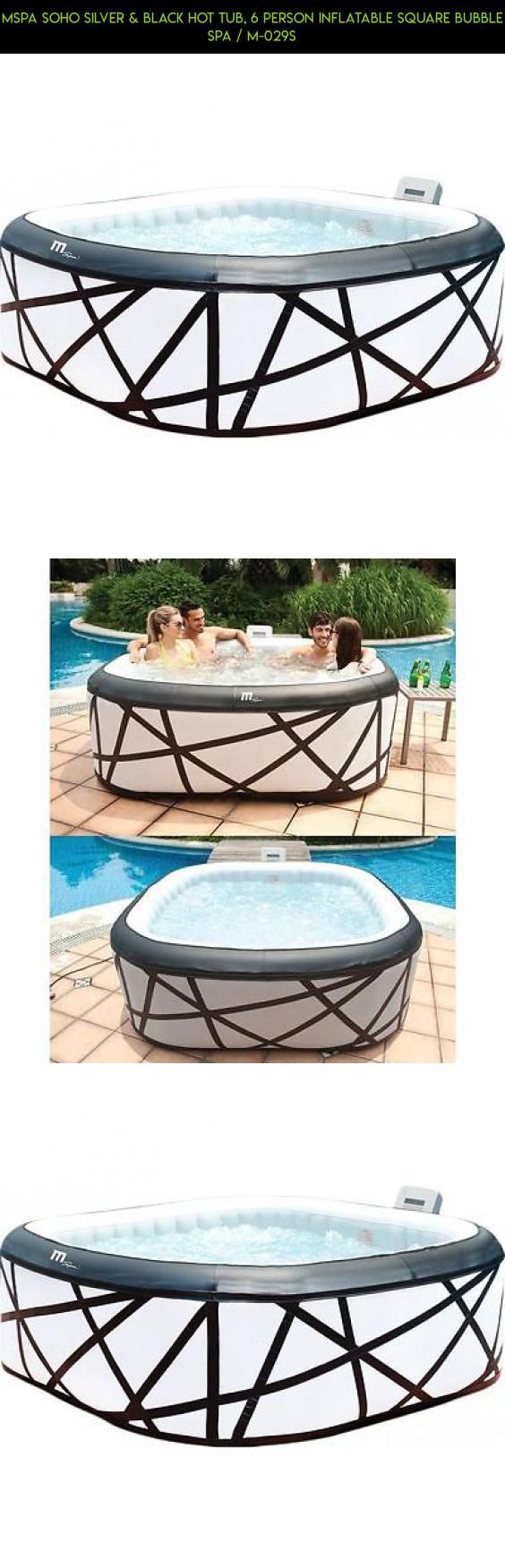 MSpa Soho Silver & Black Hot Tub, 6 Person Inflatable Square Bubble Spa / M-029S #drone #square #hot #fpv #tech #camera #kit #tubs #products #parts #shopping #inflatable #gadgets #plans #technology #racing