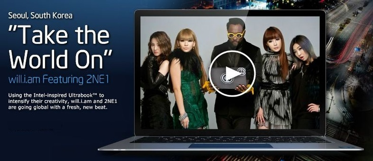 """Take the World On"" by will.i.am featuring 2NE1 - In Seoul, South KoreaFeatures 2Ne1, Will I Am Features"