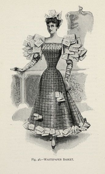 Wastepaper Basket from 'Fancy Dresses Described; or, What to Wear at Fancy Balls,' by Hold, Ardern, 1896