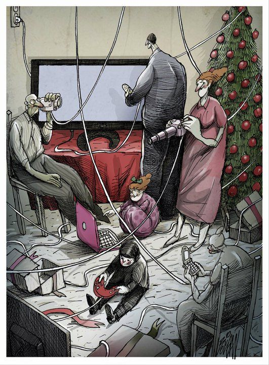 Surreal, Thought-Provoking Cartoons About Love, Loss And Modernism - DesignTAXI.com
