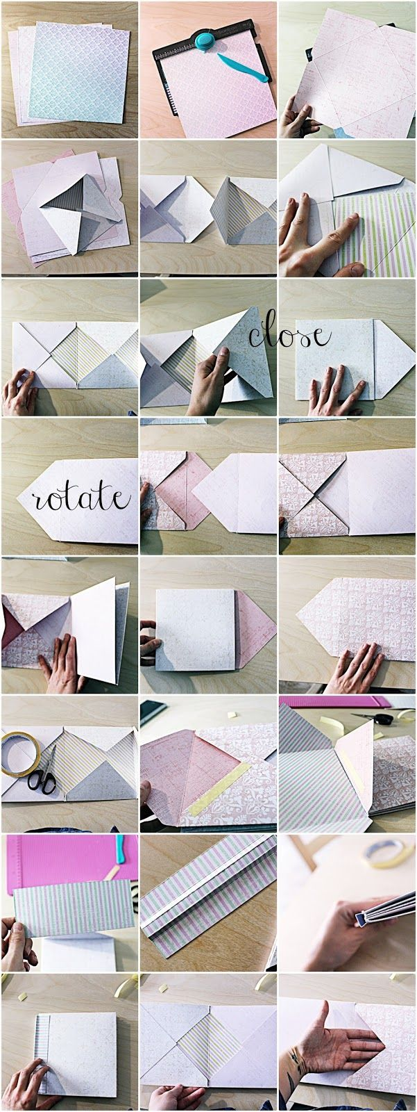 Retro Kraft Shop: Retro Tutki: Album kopertowy Ani / Retro Tutorials: Ania's envelope album