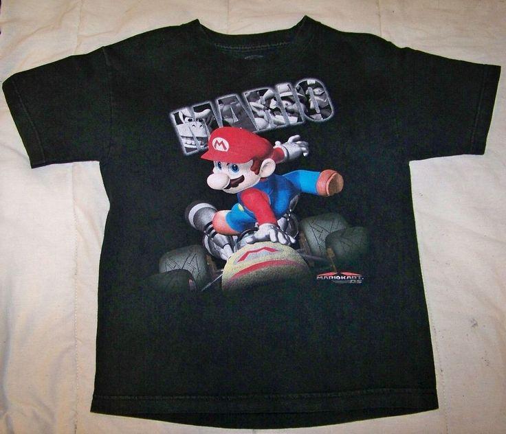 Boy's Black Short Sleeve Youth Character Everyday T Shirt 100% Cotton #nintendo #Everyday
