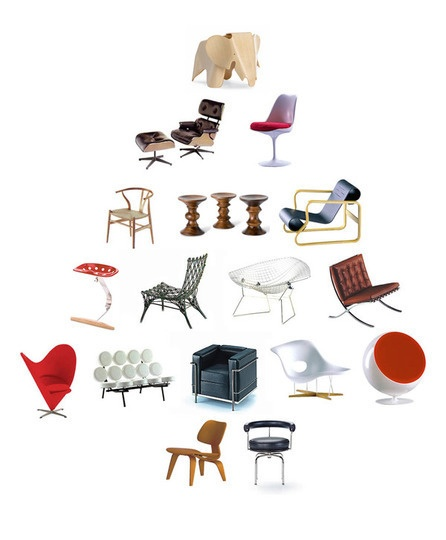 design tree: Great Idea, Design Trees, Chairs Miniatures, Gifts Guide, Dollhouse Furniture, Vitra Miniatures, 20 Gifts, Design Lovers, Christmas Plea