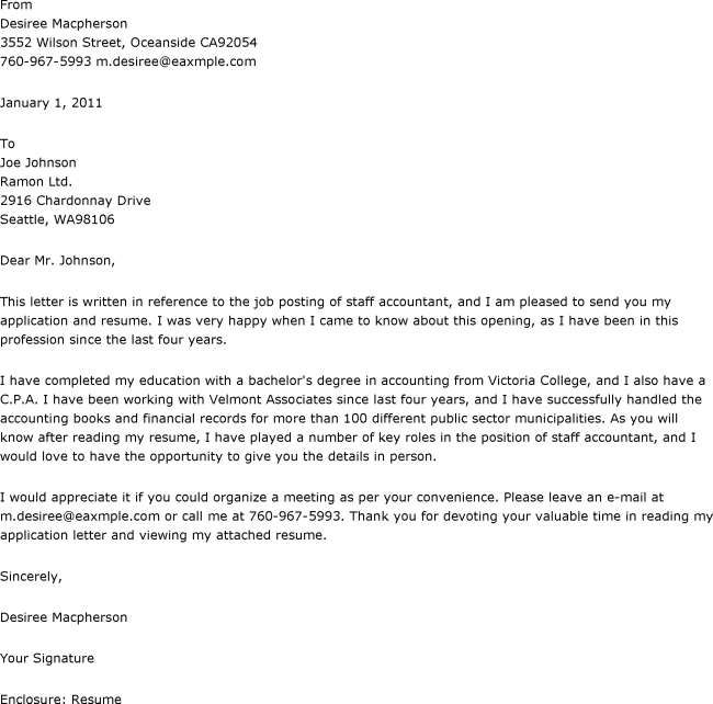 Writing an Internship Cover Letter? This Sample Can Help Cover - staff accountant job description