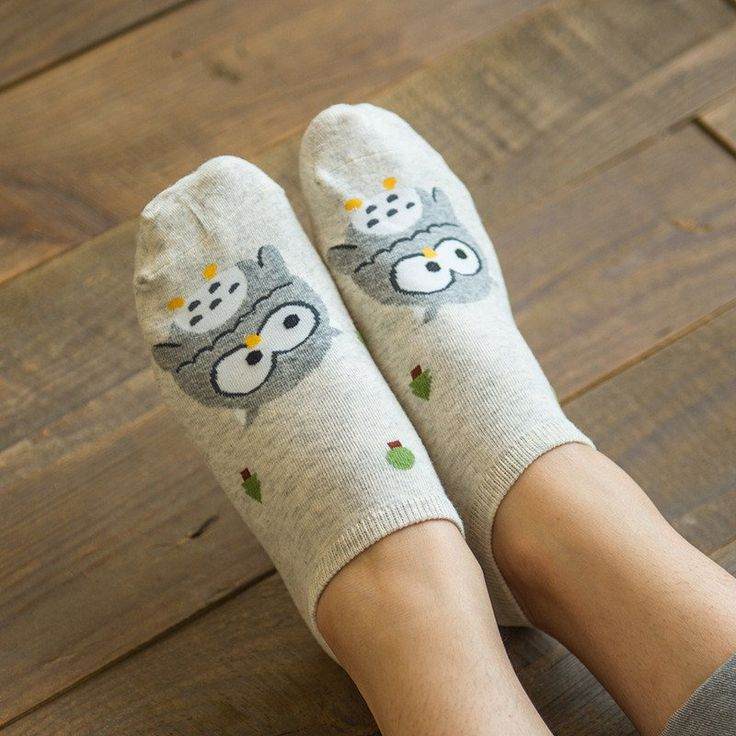 KC Owl Print Socks (Gray) #Gray #Socks