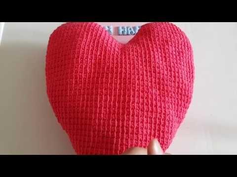 Anneler Günü İçin Örgü Kalpli Yastık Modeli Tarifi ( Anlatımlı ... | 360x480