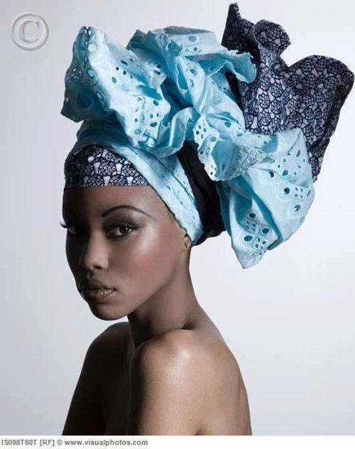 Beautiful blue turban