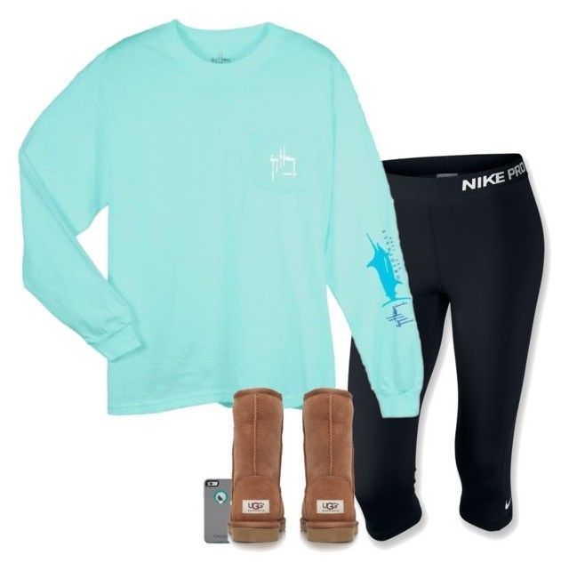 """""""Current Mood"""" by gourney ❤ liked on Polyvore featuring NIKE, Guy Harvey, UGG Australia, women's clothing, women, female, woman, misses and juniors"""