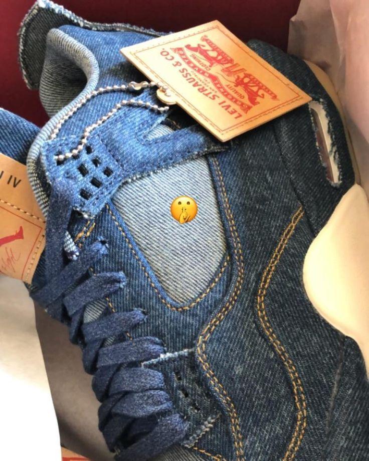 いいね!7,481件、コメント150件 ― zSneakerHeadzさん(@zsneakerheadz)のInstagramアカウント: 「ANOTHER LOOK: 2018 Levi's x Air Jordan Retro 4 #Denim 🤫🤫🤫 Denim/Denim AO2571-401 $225」