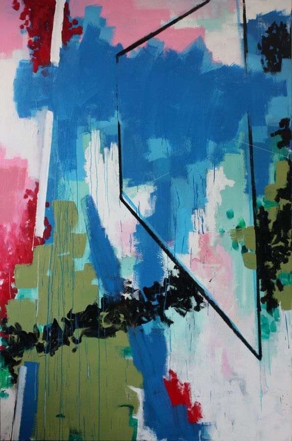 Composition with black shape - Jeroen Molenaar