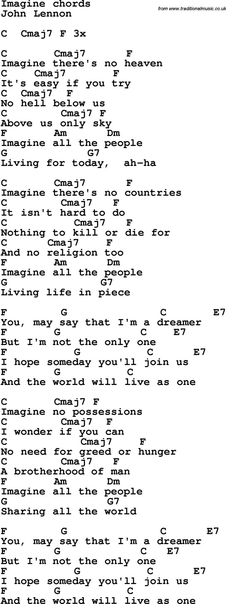 Love john lennon acoustic chords best ukulele images on songs love john lennon acoustic chords song lyrics with guitar chords for imagine john lennon hexwebz Images