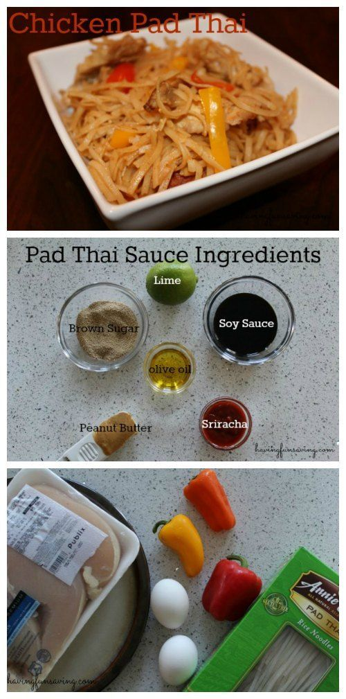 Chicken Pad Thai Recipe on Having Fun Saving and Cooking.