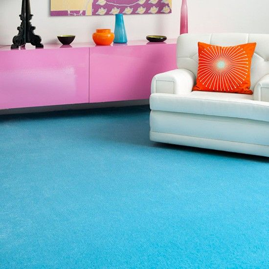 Kingsmead Paloma turquoise carpet from Fun on the floor   Coloured carpets    Flooring   Finishing touches   PHOTO GALLERY   housetohome.co.uk    Pinterest ...