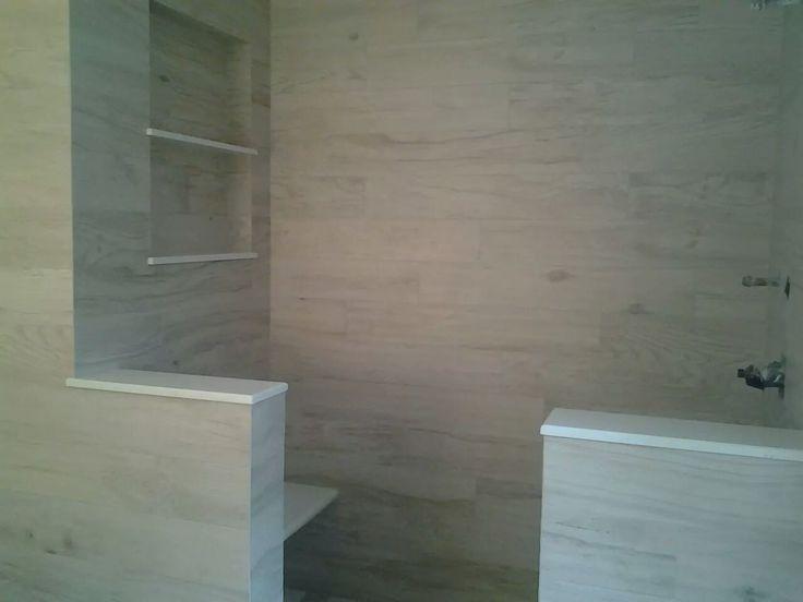 6x36 Cream Wood Inkjet Porcelain Matte/ exterior bathroom Traditional, contemporary modern shower walls floor wood porcelain / CTM Tile 310-379-7646 www.ctmdealer.com