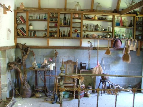 and another look inside the Witches Cottage